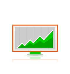 Simple stylized colorful icon computer display vector image