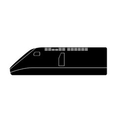 speed train the black color icon vector image vector image