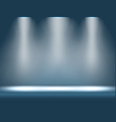 Stage with spotlight shining from above vector