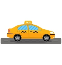 taxi car on white background vector image vector image