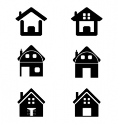various homes vector image vector image