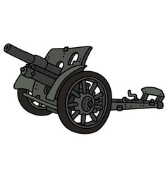 Vintage gray cannon vector image