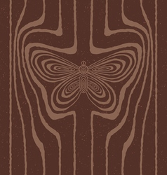 Wood grain stylized as butterfly vector