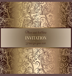 Victorian background with antique luxury beige and vector