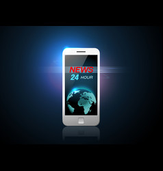 Mobile news vector