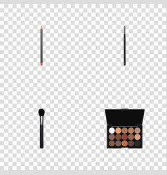 realistic mouth pen beauty accessory vector image