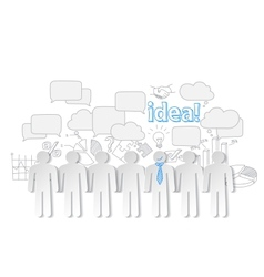 Business people communication teamwork idea vector image