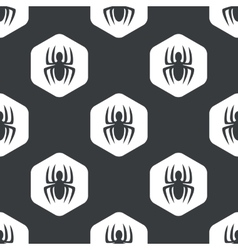 Black hexagon spider pattern vector