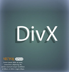 Divx video format sign icon symbol on the vector