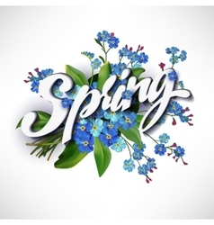 Spring lettering vector