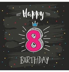 8th birthday vector
