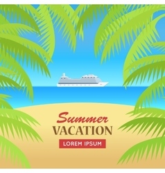 Summer vacation on seaside concept vector