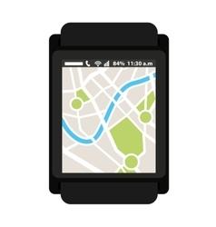 Gps map app icon vector