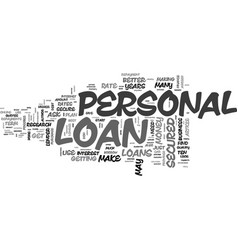 Best ways to secure a personal loan text word vector