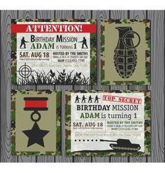 Birthday invitation vector