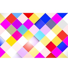Colorful Abstract Square Retro - Modern Background vector image vector image