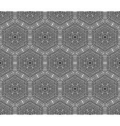Crochet hexagons seamless pattern vector