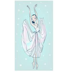 dancing beautiful ballerina vector image