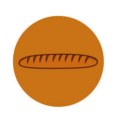 Delicious french bread icon vector