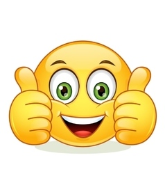 Emoticon showing thumb up vector