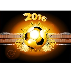 Football soccer glowing background 2016 vector