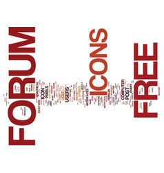 Free forum icons text background word cloud vector