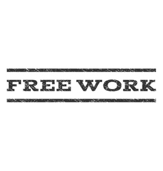 Free work watermark stamp vector