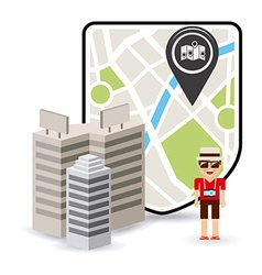 gps technology vector image