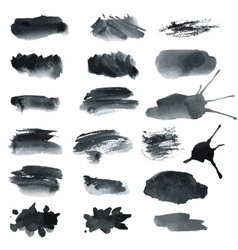 Gray blots vector image vector image
