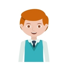 Half body redhead man with formal suit and tie vector