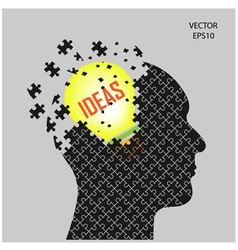 head and ideas vector image