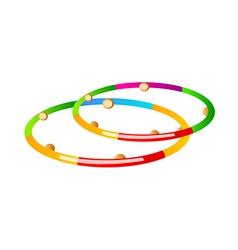 Icon hula hoop vector