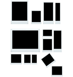 instant photo set isolated vector image vector image