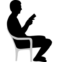 man is reading a book vector image