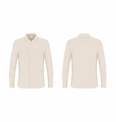 Mens beige dress shirt vector