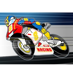 Motorbike sports racing embroidery applique vector image vector image
