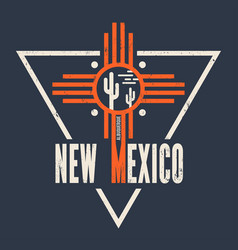 new mexico t-shirt design print typography vector image