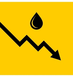 Oil Price Fall Graph vector image vector image