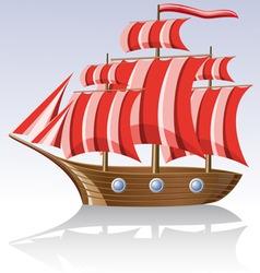 Old sailing vessel vector