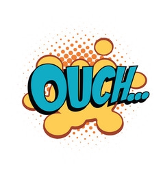 ouch comic word vector image