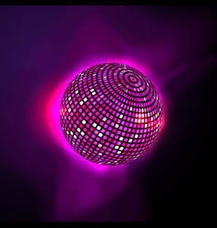 pink disco ball vector image