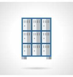 Public lockers flat color design icon vector