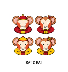 Rat Chinese vector image vector image