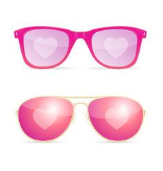 realistic 3d sunglasses pink lenses woman dream vector image