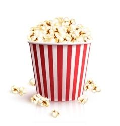 Realistic Popcorn Bucket vector image