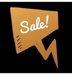 sale gold doodle speech bubble discount vector image