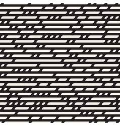 Seamless black and white dashed horizontal vector