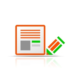 Simple stylized colorful icon - file icon vector image