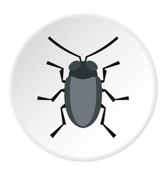 Small bug icon circle vector