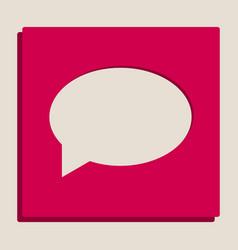 Speech bubble icon grayscale version of vector